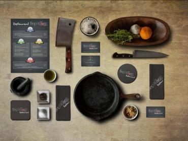 restaurant l'industrie carte visite